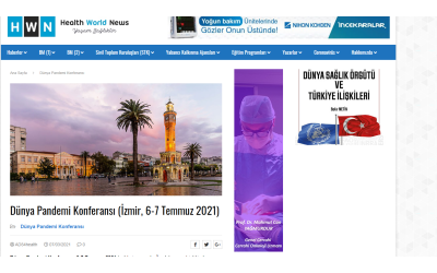 World Pandemic Conference (İzmir, 6-7 July 2021)