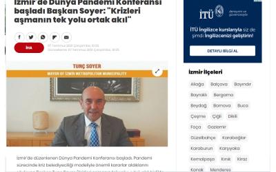 """İzmir'de Dünya Pandemi Konferansı başladı Başkan Soyer: """"Krizleri aşmanın tek yolu ortak akıl"""""""