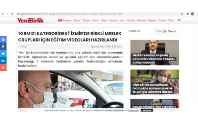 EDUCATIONAL VIDEOS HAVE BEEN PREPARED FOR RISKY VOCATIONAL GROUPS IN RED CATEGORY IN IZMIR