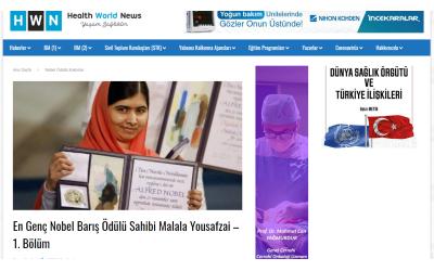 En Genç Nobel Barış Ödülü Sahibi: Malala Yousafzai