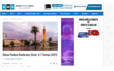 Dünya Pandemi Konferansı (İzmir, 6-7 Temmuz 2021)