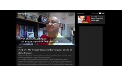 Prof. Dr. Ata Nevzat Yalçın: Delta varyantı yüzde 60 daha bulaşıcı