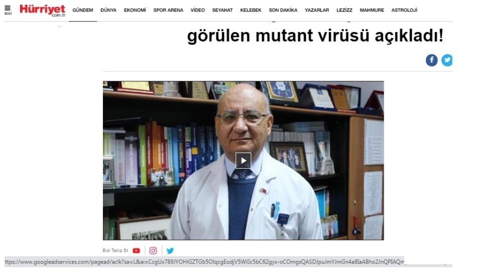 Prof. Dr. Yalçın, Türkiye'de en fazla görülen mutant virüsü açıkladı!